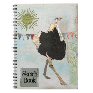Ornate Ostrich Sunshine Sketch Notebook