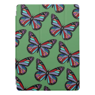 Ornate Patterned Butterflies on Green iPad Pro Cover