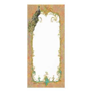 Ornate Peacock n Paisley Art Design Custom Rack Cards