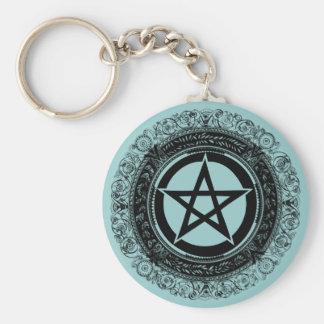 Ornate Pentacle Keychains