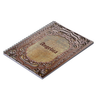 ornate personalized photo notebook