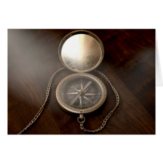 Ornate Pocket Compass Card