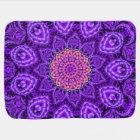 Ornate Purple Flower Vibrations Kaleidoscope Art Baby Blanket