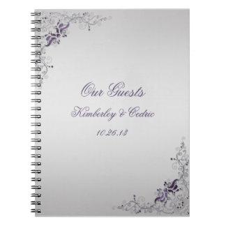 Ornate Purple Swirls Guest Book