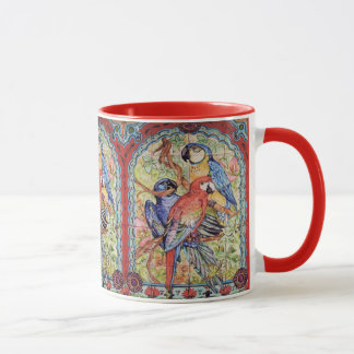 Ornate Red Scarlet Hyacinth Blue Macaw Parrot Mug