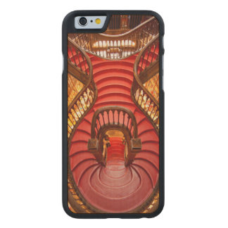Ornate red stairway, Portugal Carved Maple iPhone 6 Case