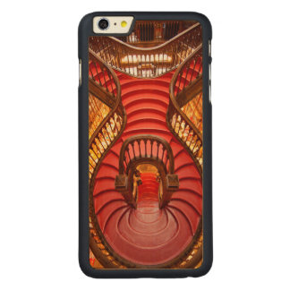 Ornate red stairway, Portugal Carved® Maple iPhone 6 Plus Case
