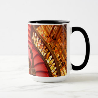 Ornate red stairway, Portugal Mug