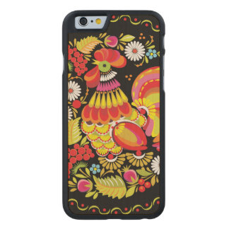 Ornate Rooster Carved Maple iPhone 6 Case