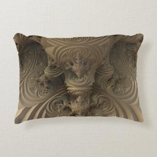 Ornate Scroll Design Throw Pillow