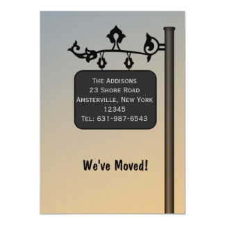 Ornate Signpost - Moving Announcement
