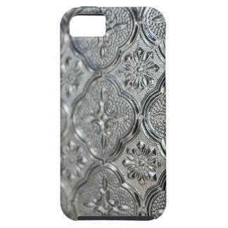 Ornate Silver Glass Design iPhone 5 Case