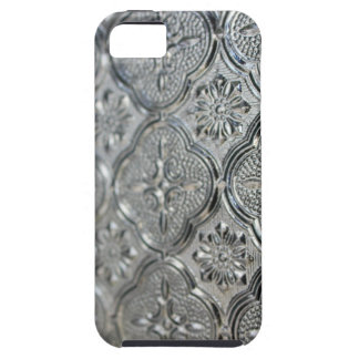 Ornate Silver Glass Design iPhone 5 Cover