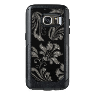 Ornate Silver Vintage Floral OtterBox Samsung Galaxy S7 Case