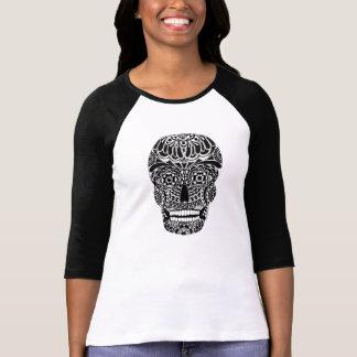 Ornate Skull Black and White Shirt