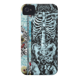 Ornate skull collage iPhone 4 cover