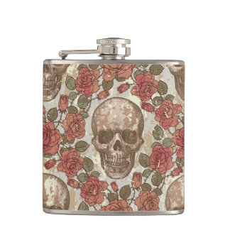 Ornate Skull Hip Flask