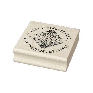 Ornate Square Embellishment Return Address Stamp