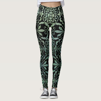 Ornate Teal Pattern Leggings