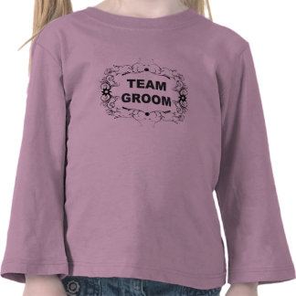 Ornate Team Groom T-shirts