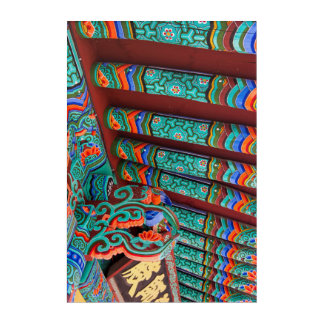 Ornate Temple Roof Detail Acrylic Print