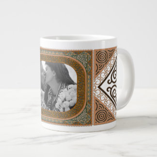 Ornate Verdigris Green Faux Bois Photo Frame Large Coffee Mug