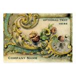 Ornate Victorian Flower & Scroll Business Card