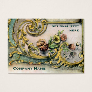 Ornate Victorian Flower & Scroll Business Card