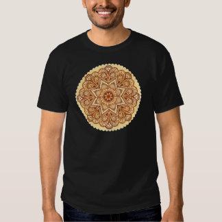 Ornate vintage circle napkin in mehndi style tees
