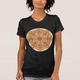 Ornate vintage circle napkin in mehndi style tshirts