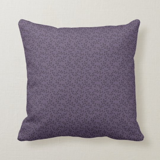 Ornate, Violet,  Throw Pillow with Initials,