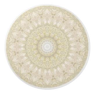Ornate Wedding Mandala Ceramic Knob