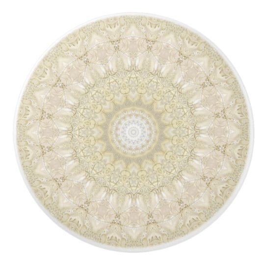 Ornate Wedding Mandala Ceramic Knob