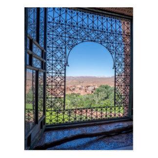 Ornate Window Decoration Postcard