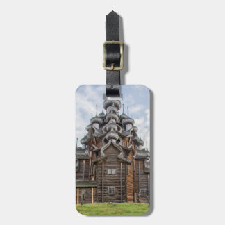 Ornate wooden church, Russia Luggage Tag