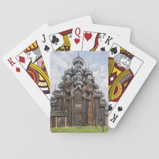Ornate wooden church, Russia Poker Deck
