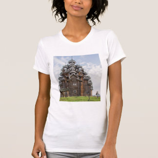 Ornate wooden church, Russia T-Shirt