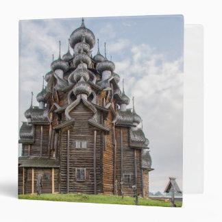 Ornate wooden church, Russia Vinyl Binder