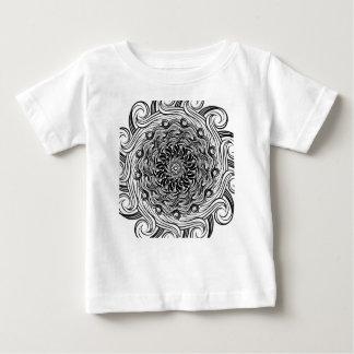 Ornate Zen Doodle Optical Illusion Black and White Baby T-Shirt