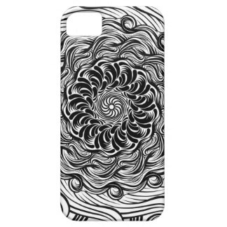Ornate Zen Doodle Optical Illusion Black and White Case For The iPhone 5