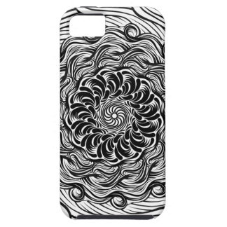 Ornate Zen Doodle Optical Illusion Black and White iPhone 5 Case