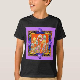 Ornately Lilac framed Iris Garden by sharles T-Shirt