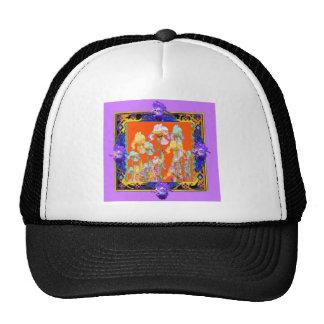 Ornately Lilac framed Iris Garden by sharles Trucker Hat