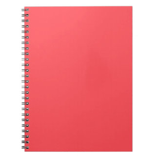 Ornately Sculptured Coral Color Notebook
