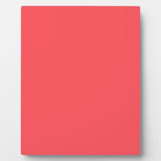 Ornately Sculptured Coral Color Plaque