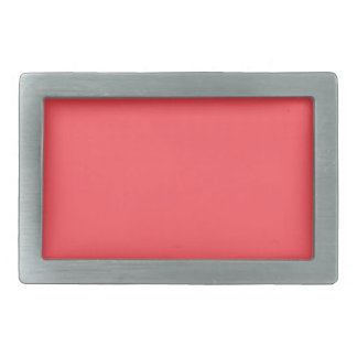 Ornately Sculptured Coral Color Rectangular Belt Buckles