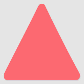 Ornately Sculptured Coral Color Triangle Sticker