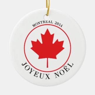 Ornement 2014 de Noël de Montréal Joyeux Noël
