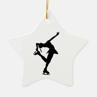 Ornement B&W d'étoile de patineur