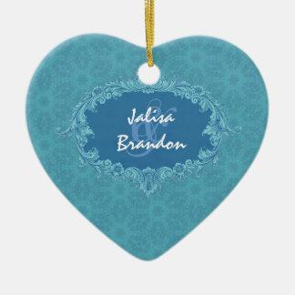 Ornement bleu Ver2 de couples de mariage